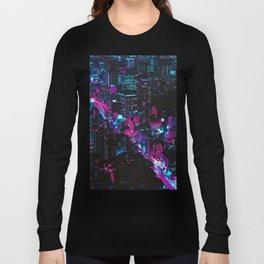 Cyberpunk Vaporwave City Long Sleeve T-shirt