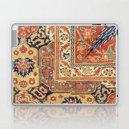 Indian Trellis II // 17th Century Ornate Medallion Red Blue Green Flowers Leaf Colorful Rug Pattern Laptop & iPad Skin
