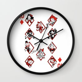 Sawdust Deck: The 10 of Diamonds Wall Clock