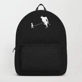 Minotaur Pet Walked By Boy Backpack