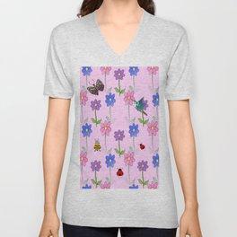 Pink Nature Unisex V-Neck