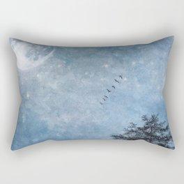 Moon lit flight Rectangular Pillow