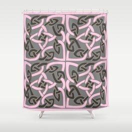 PINK & GREY CELTIC INTER-LOCKING PATTERNS Shower Curtain