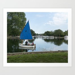 Learning to Sail Art Print
