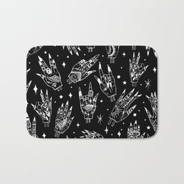 Floating Witchy Goth Hands Bath Mat