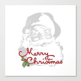 Jolly Santa Merry Christmas Canvas Print