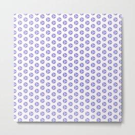 Hexagon Flowers 01 Metal Print