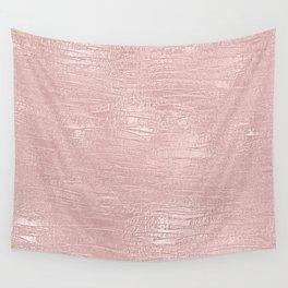 Metallic Rose Gold Blush Wall Tapestry