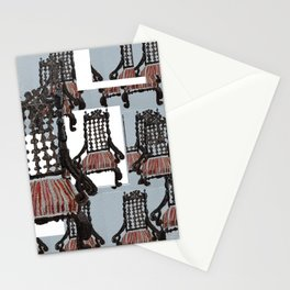 Abstract Seating Stationery Cards
