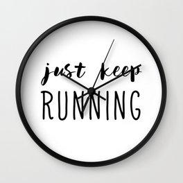 Just Keep Running Wall Clock