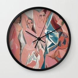 Les demoiselles d'Avignon - Pablo Picasso - Art Poster Wall Clock
