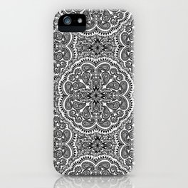 BLACK AND WHITE MANDALAS iPhone Case