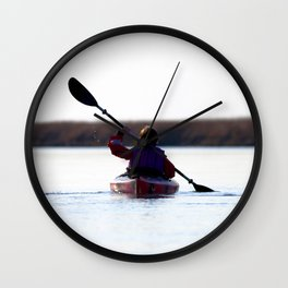 Watercolor People in Nature, OL, Children 11, Janes Island, Maryland Wall Clock