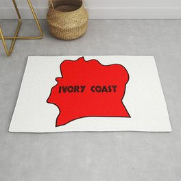 Ivory Coast Red Silhouette Rug