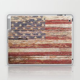 Americana Rustic Flag A643 Laptop & iPad Skin
