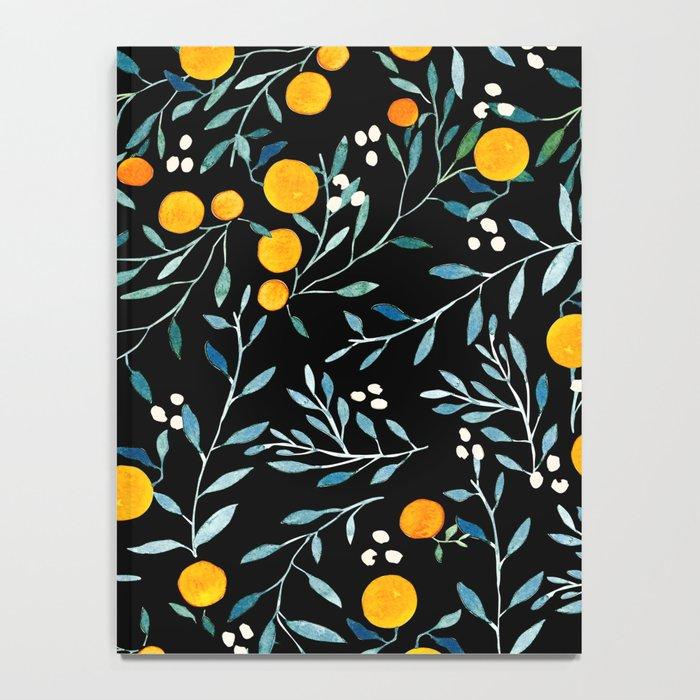Oranges Black Notebook