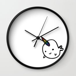 BIG RAINBOW BUDDY NARWHAL Wall Clock