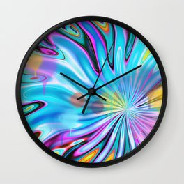 Abstract splash and water colour droplets Wall Clock