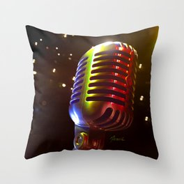 Mic Me Throw Pillow