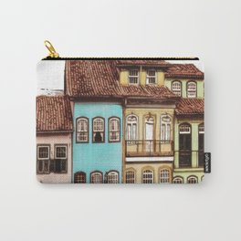 Simple and colorful houses - Antique Carry-All Pouch