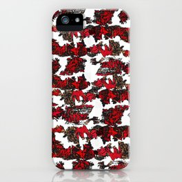 Red and Black Abstraction Wallpaper iPhone Case