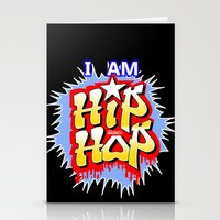 hip hop Stationery Cards featuring HIP-HOP by DaeSyne Artworks