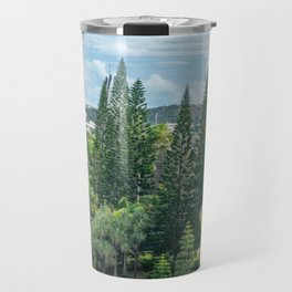Tjibaou Cultural Centre immersed in tropical vegetation Travel Mug
