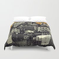 cityscape Duvet Covers featuring Cityscape by Chris Lord