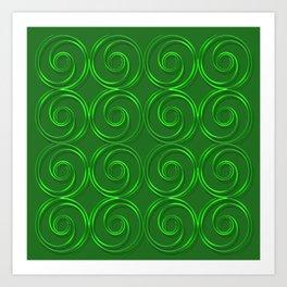 Abstract circles green illustration. Art Print