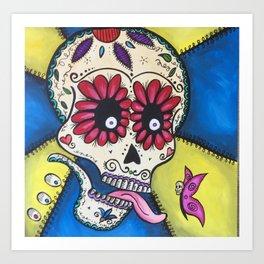 Butterfly Sugar Skull Art Print