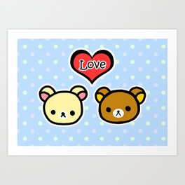 Bear Love Art Print
