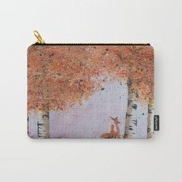 Autumn Birch Fox Carry-All Pouch