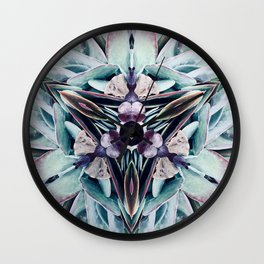 Colours of Succulents Wall Clock