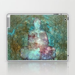 Watercolor Mandala Buddha in Galaxy Laptop & iPad Skin