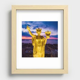 Sunset Wisconsin Recessed Framed Print