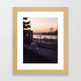 Last Sundown Framed Art Print