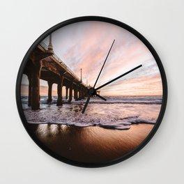 MANHATTAN BEACH PIER Wall Clock