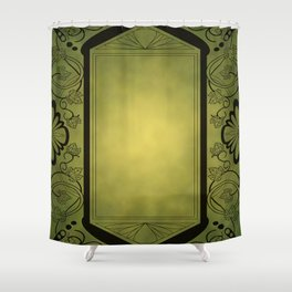 Grape Border with Patina Shower Curtain
