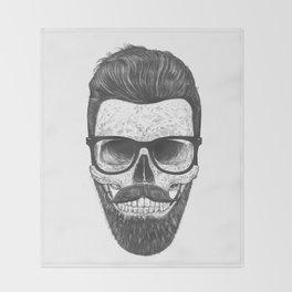 Hipster Skull Throw Blanket