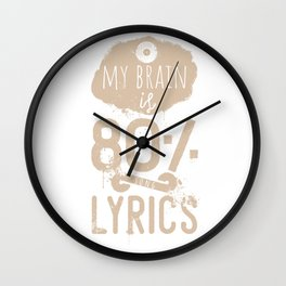 My brain is 80% lyrics quote Wall Clock