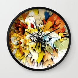 Color Blocks Explosion Wall Clock