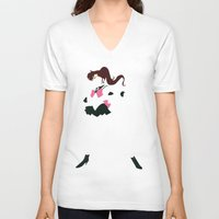 sailor jupiter V-neck T-shirts featuring Sailor Jupiter by JHTY