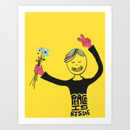 Peace Is Awesome Art Print