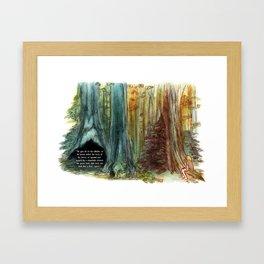 Tree Affinity Framed Art Print