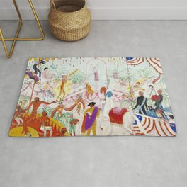 """Florine Stettheimer """"Beauty Contest - To the Memory of P.T. Barnum"""" Rug"""