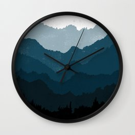 Mists No. 6 - Ombre Blue Ridge Mountains Art Print  Wall Clock