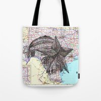 texas Tote Bags featuring Texas by Ursula Rodgers