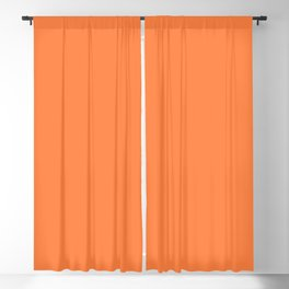 From The Crayon Box – Mango Tango - Bright Orange Solid Color Blackout Curtain