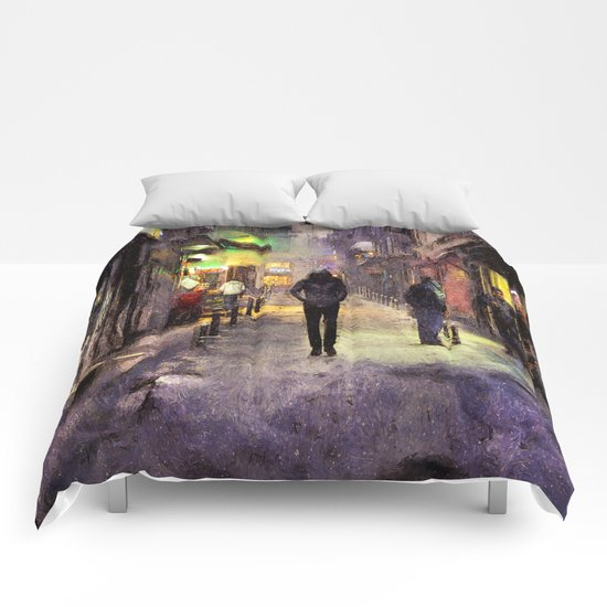 City Snow Walk Comforters