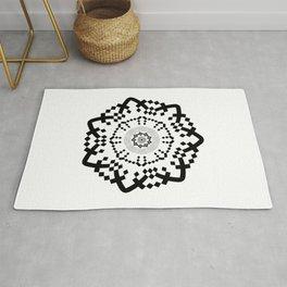 Aztec Mandala [BW VAR] Rug